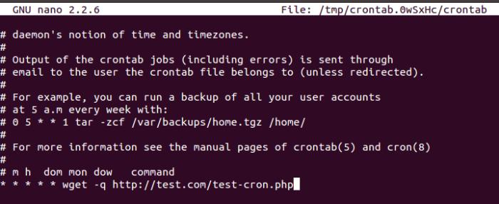 Cron job o Ubuntu 14.04